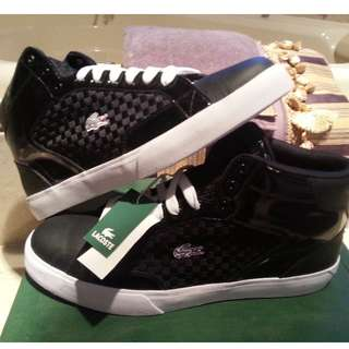 Lacoste Hi-Top Checkered Shoes