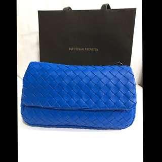 🚚 Bottega Veneta BV編織迷你鏈帶包-藍色