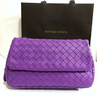 🚚 Bottega Veneta BV編織迷你鏈帶包 -紫色