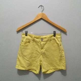 Yellow Denim Short