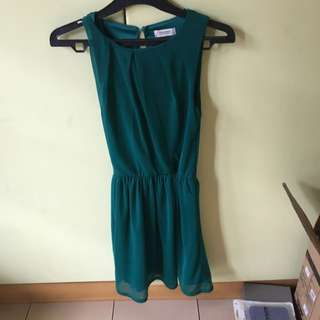 Green Dress Pull And Bear