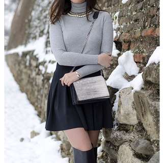 GREY ZARA TURTLENECK TOP