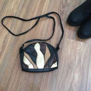 Small Black & Gold Bag