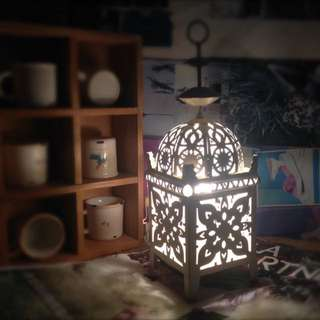 摩洛哥風鏤空燭台枱燈 (可調光暗)