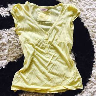 Miss Selfridge Yellow Top. Vintage