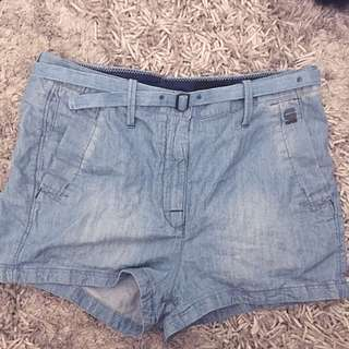 Gstar raw denim shorts