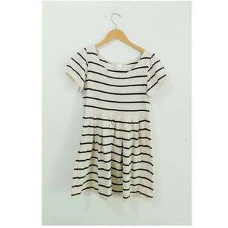 Stripe Monochrome black White dress