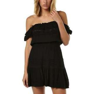 Auguste Black Off The Shoulder Dress PRICE DROP