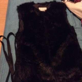 Terranova Fur Vest Coat