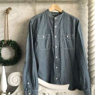 21 Men Chambray Dress Shirt