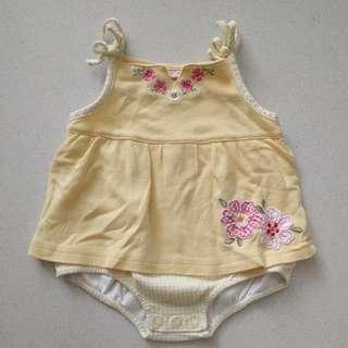 Baby Girl's Onesie Dress - Yellow
