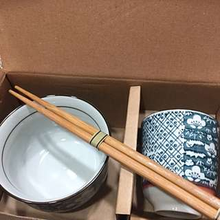 瓷碗瓷杯組$350