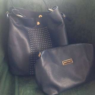 Jimmy Choo Blue Bucket Bag (Replica)