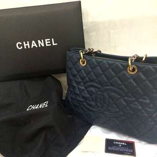 chanel gst navy blue