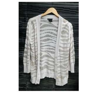 NY & Company Sheer Outer cardigan outwear Cream