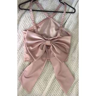 ASOS Dusty Pink Bow Crop