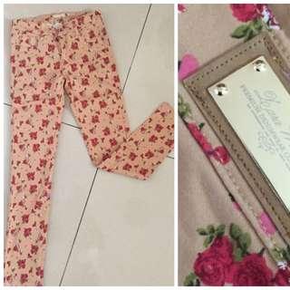 Flowers Zara Jeans