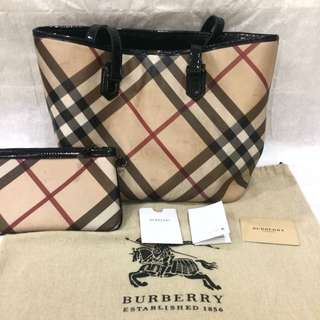 burberry nova tote bag