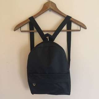 [New] Tas Ransel Mini Polos Black