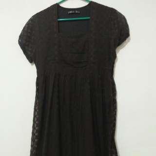 Ecru Black Dress