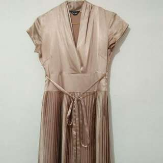 Gold Satine Dress