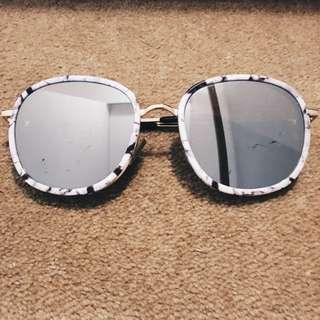 Reflective Marble Sunglasses