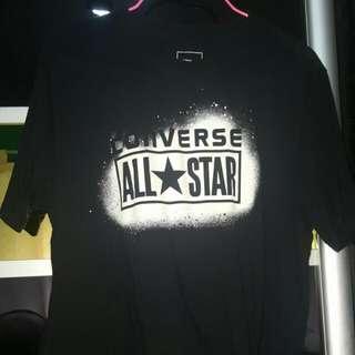 Authentic Converse All Star Black Tshirt