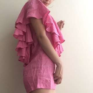 ALEXIS DAWN HOT PINK PLAYSUIT SIZE 8