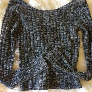 Grey Ally Knit Crop Top