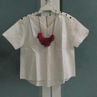 Baju Putih Croptee