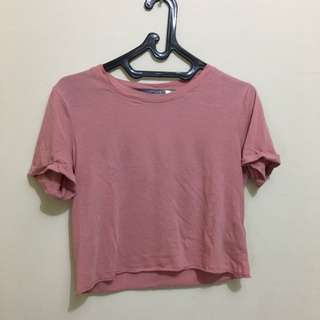 Forever 21 Basic Crop Tee