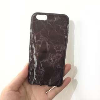 """【全新】 iPhone 6s 4.7""""黑色大理石纹手機殼"""