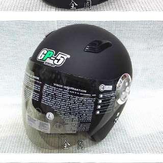 GP-5 ♥ 哈雷復古帽/安全帽 ♥ A-301《消光黑》~ 內襯全可拆洗 ~