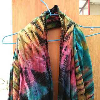 特殊染色棉麻絲巾