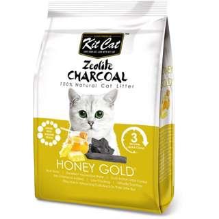 2包全新貓砂:Kit Cat 蜂蜜香味 強效除臭細礦砂