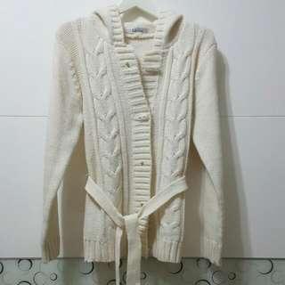 Doch白色針織外套