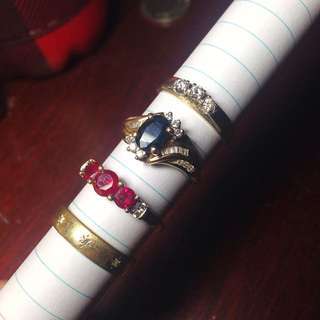 Real DIAMONDS, SAPPHIRE, RUBY Rings NEGOTIABLE