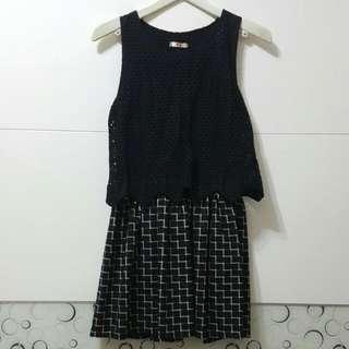 黑色造型小洋裝