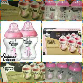 Tommee  Tippee Bottle Pink Pear - 9oz/260ml