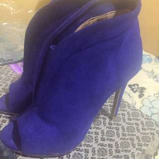 Gamuza Dark Blue High Heels