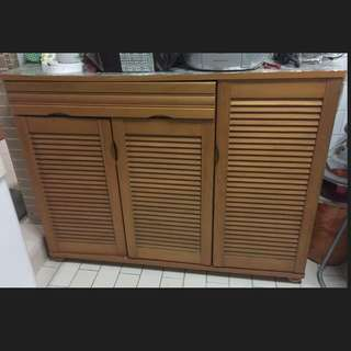 Solid Wood 3 Door Shoe Cabinet Plus Delivery