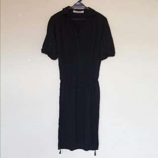 Zara Basic Black Shirt Dress