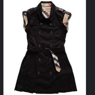 Girls Authentic Burberry Military Dress
