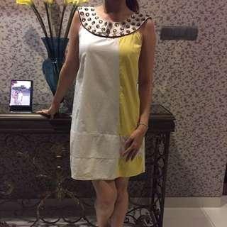 Dress Putih Kuning