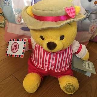 日本迪士尼商店 小熊維尼娃娃/ 玩偶 Winnie 春限定 小熊維尼娃娃