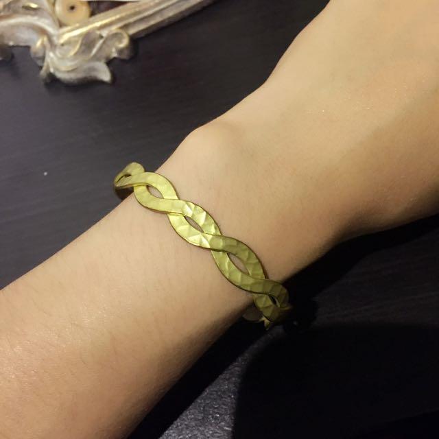 手工黃銅波西米亞不褪色編織手環