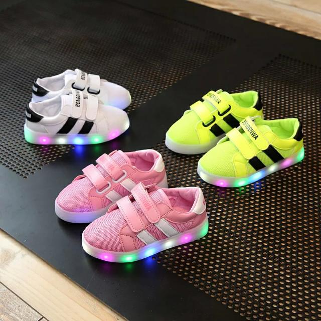 【孩子超愛♥】韓版新款時尚閃閃燈鞋  男女寶寶鞋