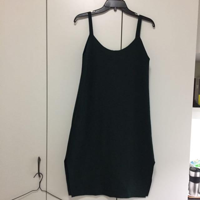 韓國帶回 針織細肩帶連身裙