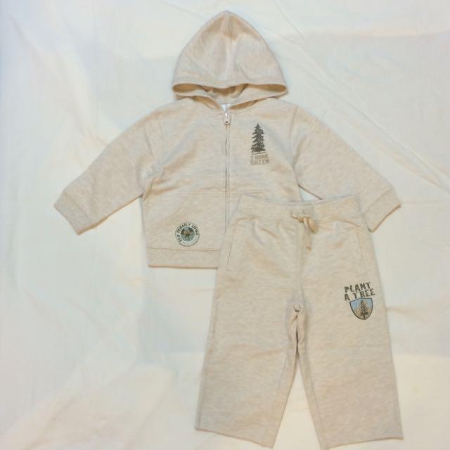 美國 Babies R Us 兩件式薄連帽外套+長褲套裝(18個月)(全新)