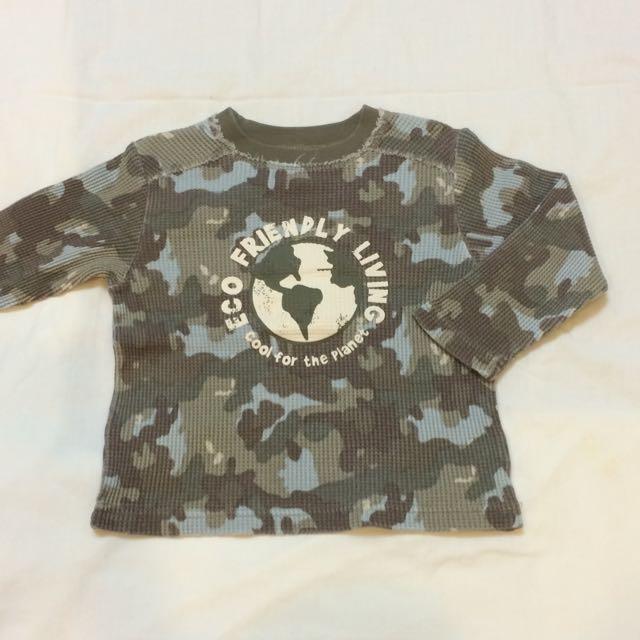 美國品牌 Babies R Us 迷彩印花長袖上衣(18個月 )(全新)